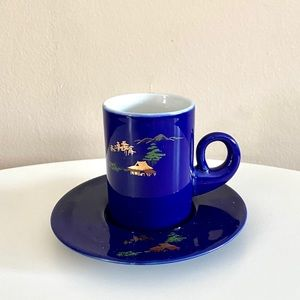 Vintage Small Coffee Cup and Plate
